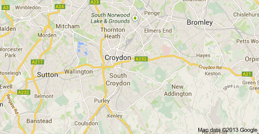 Croydon map